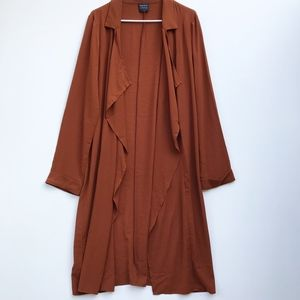 Forever 21 Brown Long Duster Jacket Large